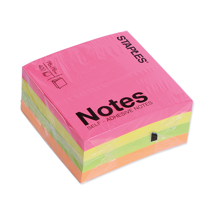 Self-stick notes cube