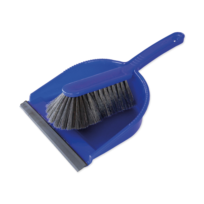 Hand brush with shovel