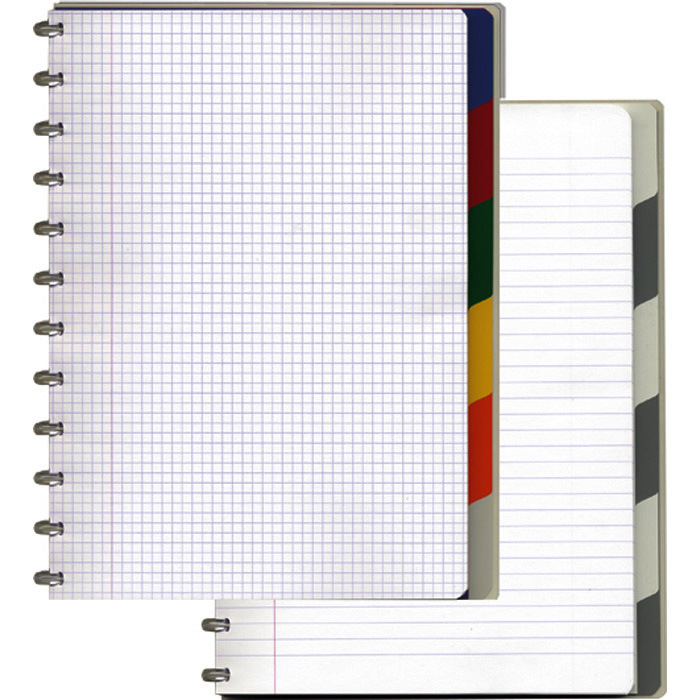Adoc Spiral booklet Pap-ex Black&White with index
