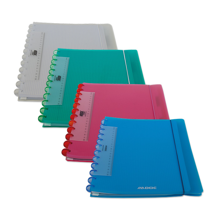 Adoc Spiral booklet Pap-ex Colorline with index