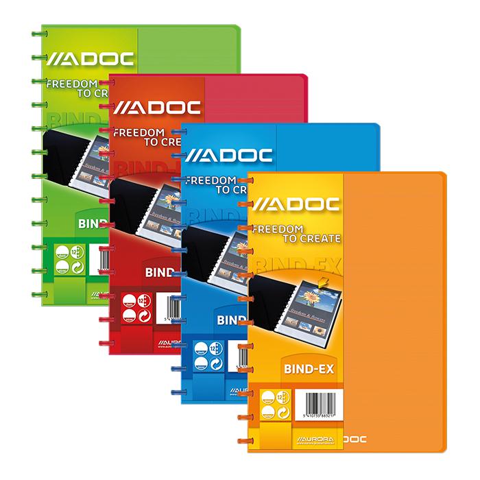 Adoc display book Bind-Ex Transparent