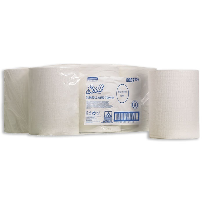 Scott Slimroll Serviettes Rouleau blanc