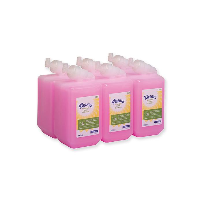 Kleenex washing lotions pink