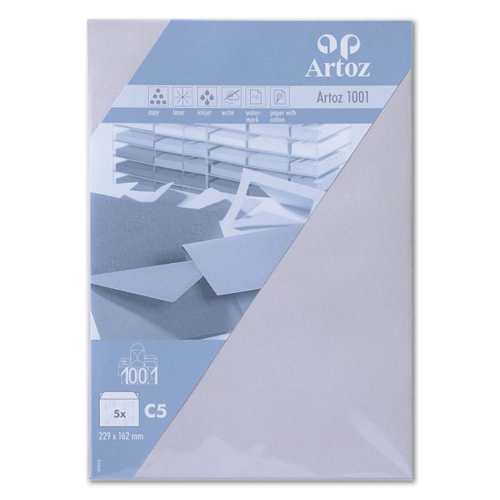 Artoz envelopes 1001   C5 gris