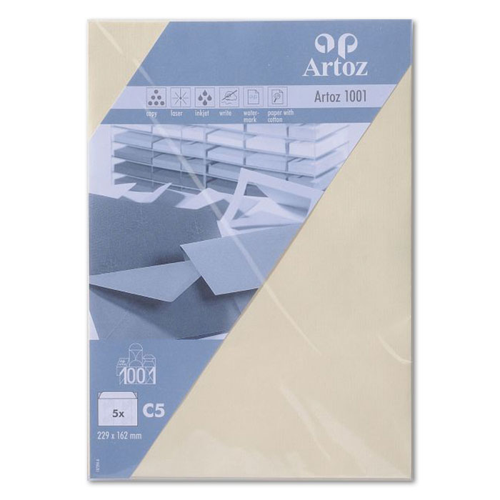 Artoz envelopes 1001   C5 chamois