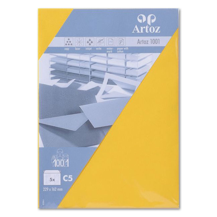 Artoz envelopes 1001   C5 yellow