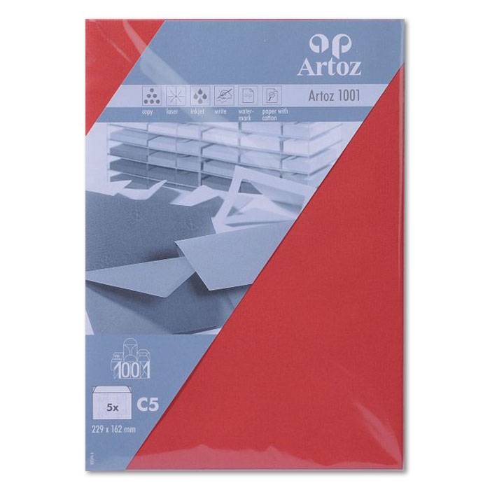 Artoz envelopes 1001   C5 red