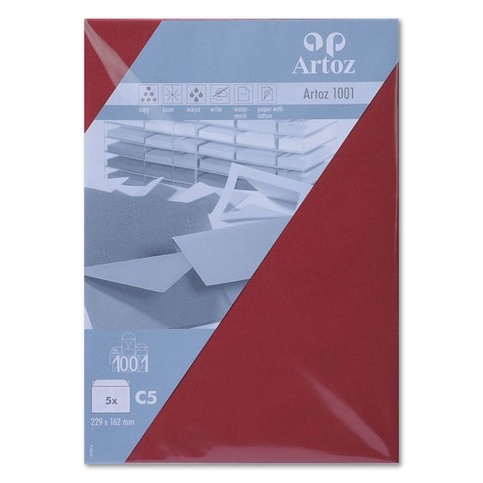 Artoz envelopes 1001   C5 dark red