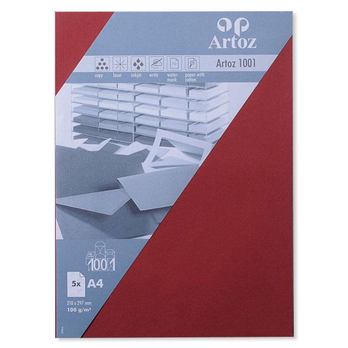 Artoz Writing paper 1001  A4 dark red