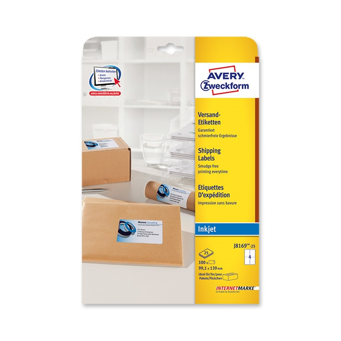 Avery Zweckform Ink jet labels white