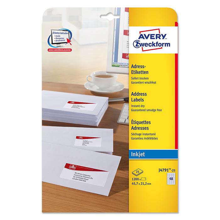 Avery Zweckform InkJet-Etiketten weiss