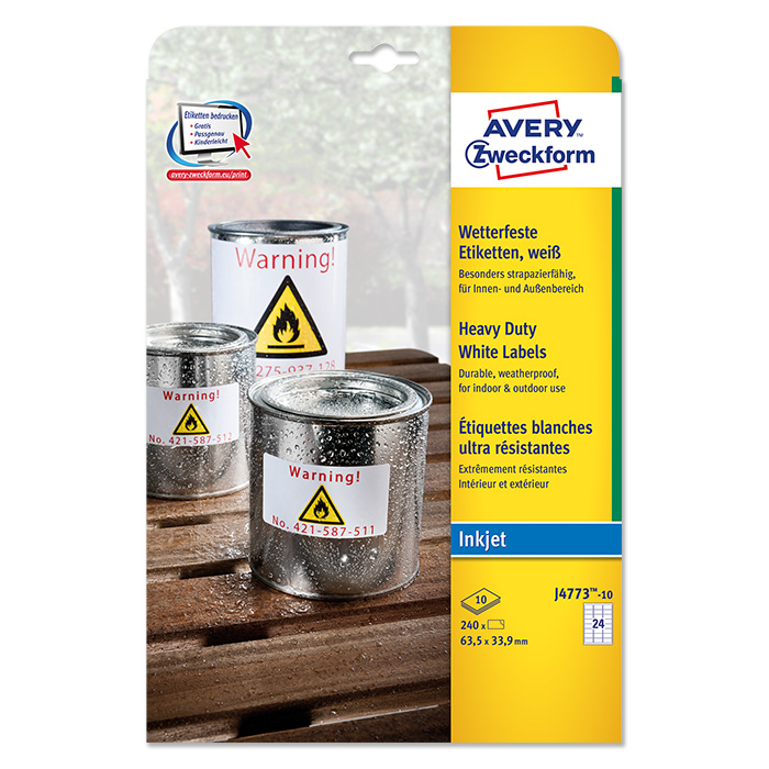 Avery Zweckform InkJet-Etiketten wetterfest