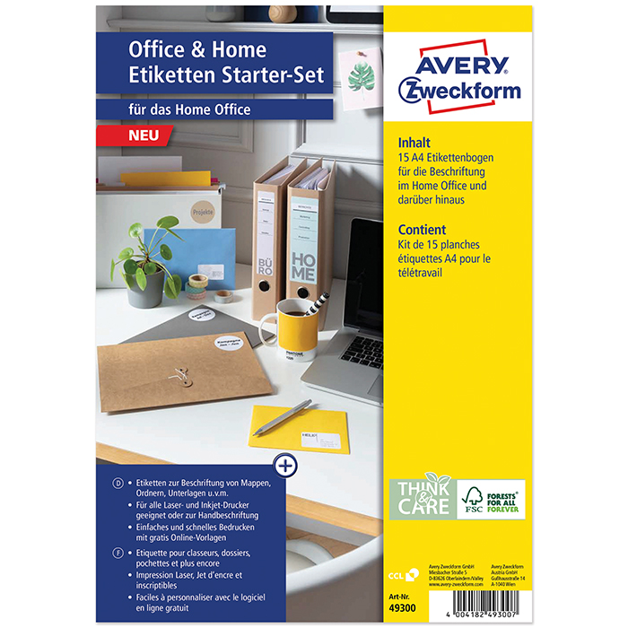 Avery Zweckform Universal-Etiketten Office and Hom