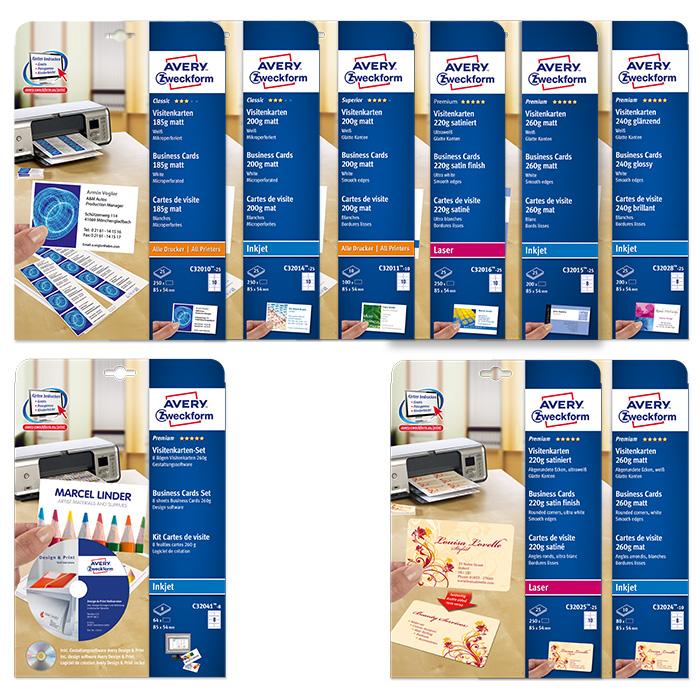 Avery Zweckform Visitenkarten Quick Clean Online Bestellen