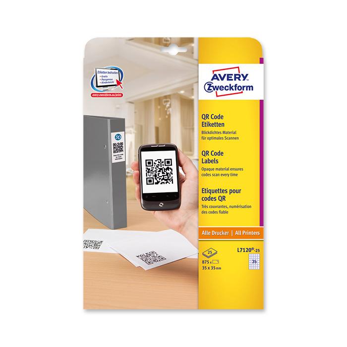 Avery Zweckform multipurpose labels QR Code