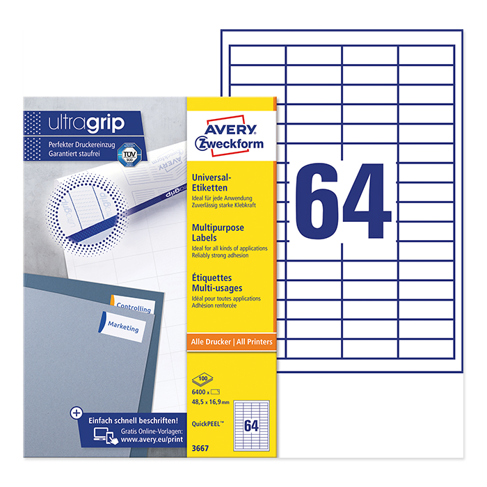 Avery Zweckform multipurpose labels ultragrip