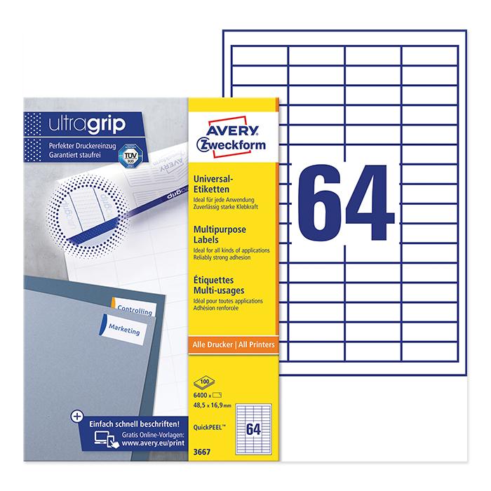 Avery Zweckform multipurpose labels ultragrip