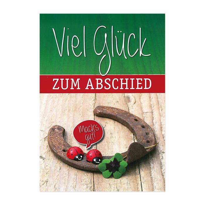 Bachmann Abschiedskarte Jumbo - Hufeisen
