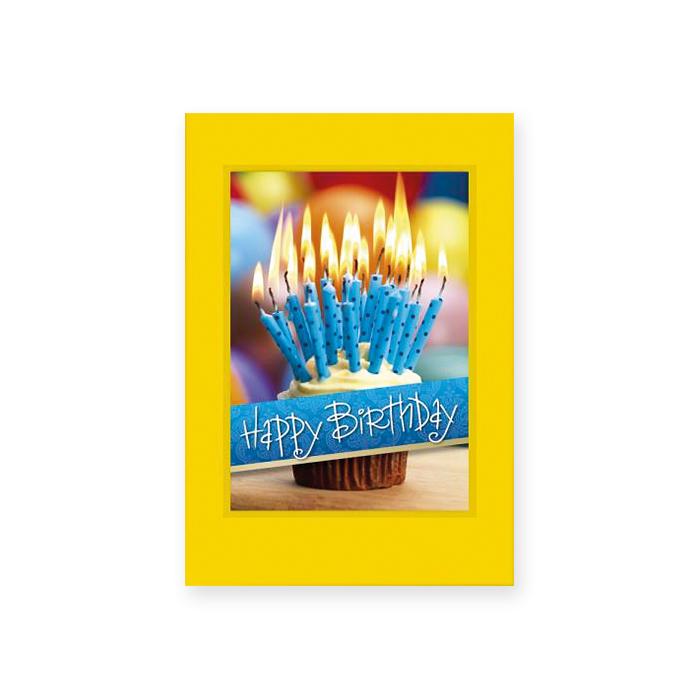 bachmann geburtstagskarte blaue kerzen mit kuvert gelb online bestellen schoch v gtli. Black Bedroom Furniture Sets. Home Design Ideas
