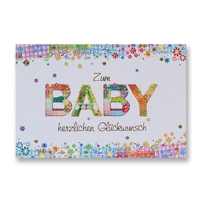 Bachmann Greetings Card for birth - flower pattern