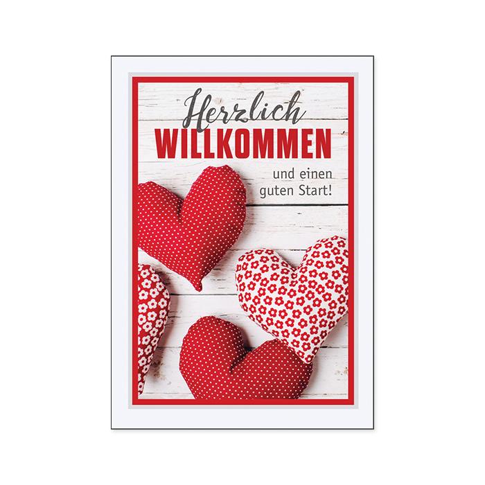 Bachmann Willkommenkarte - Herzen