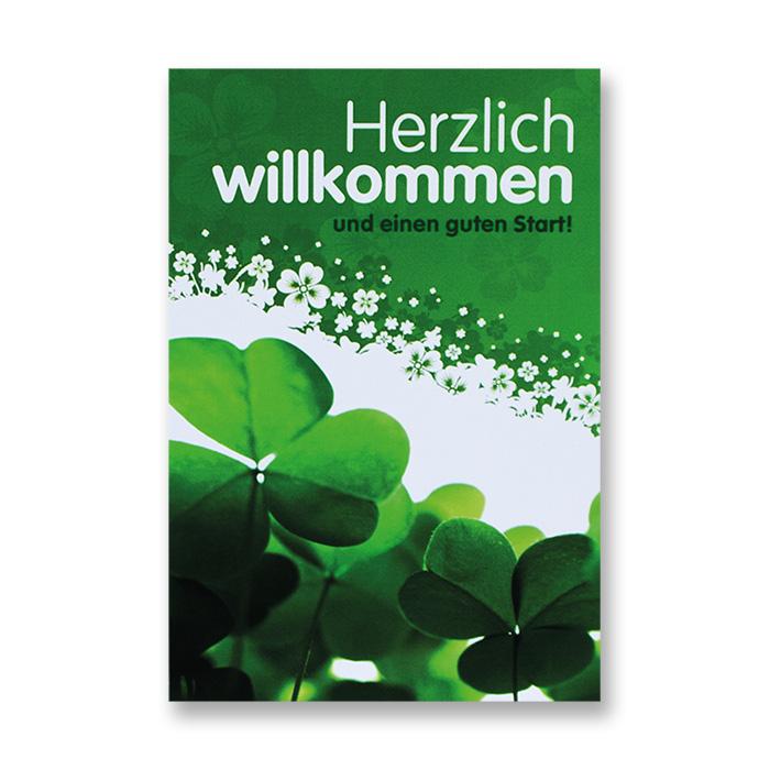 Bachmann Willkommenkarte - Kleeblatt