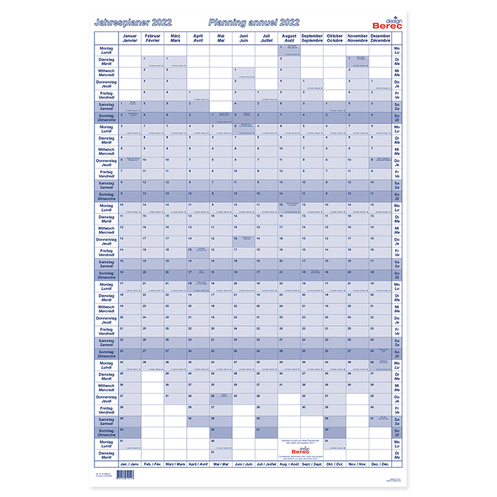 Berec Planning annuel