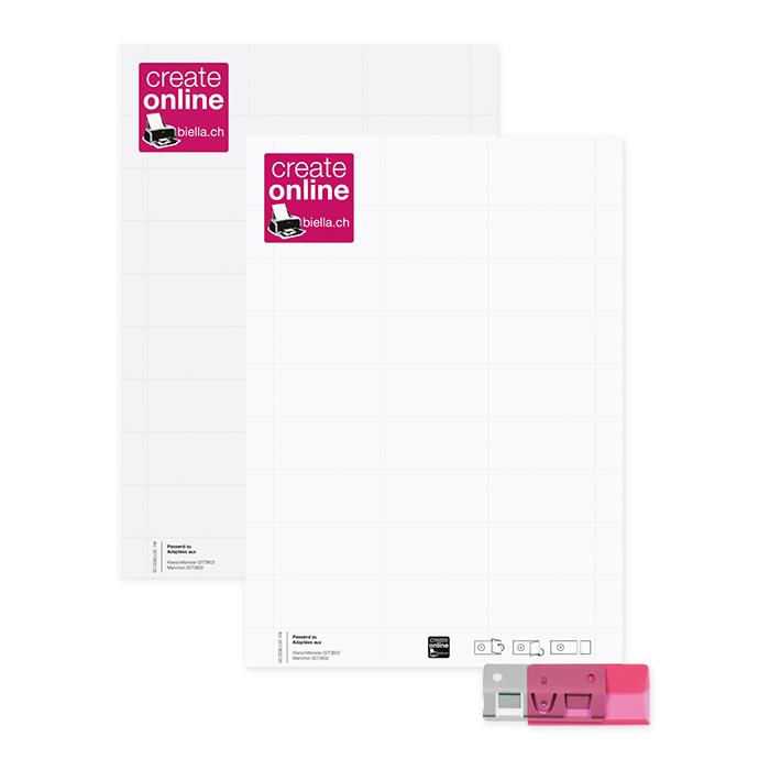 Biella Etiketten für PC-Drucker 60 x 30 mm, zu Metalreiter, Bogen à 27 Etiketten
