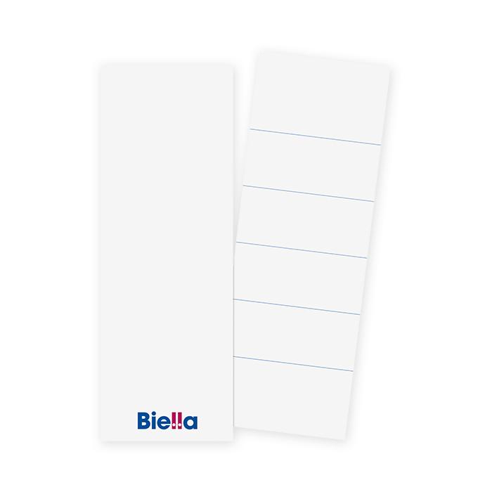 Biella Ordner-Rückenschilder lang 51 x 143 mm