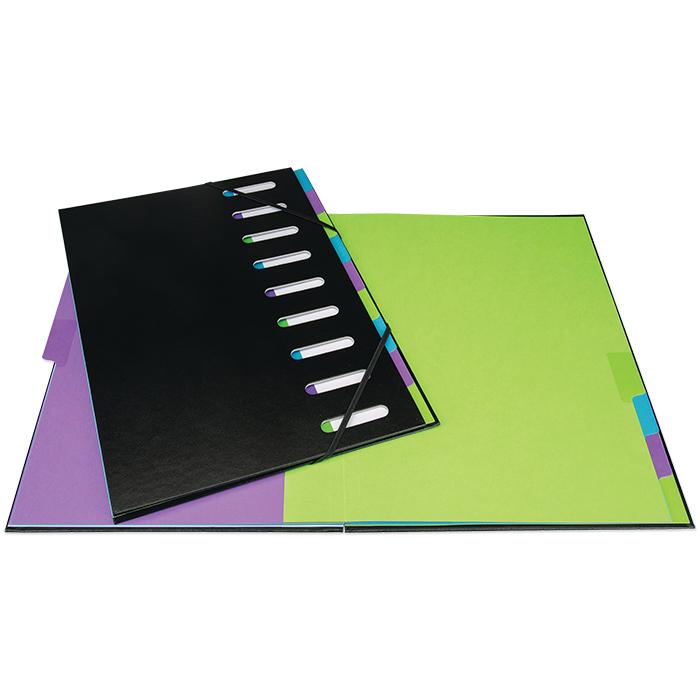 Biella cardboard paper sorter Black Office