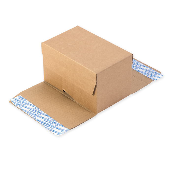 Brieger Boxes with self-adhesive strip