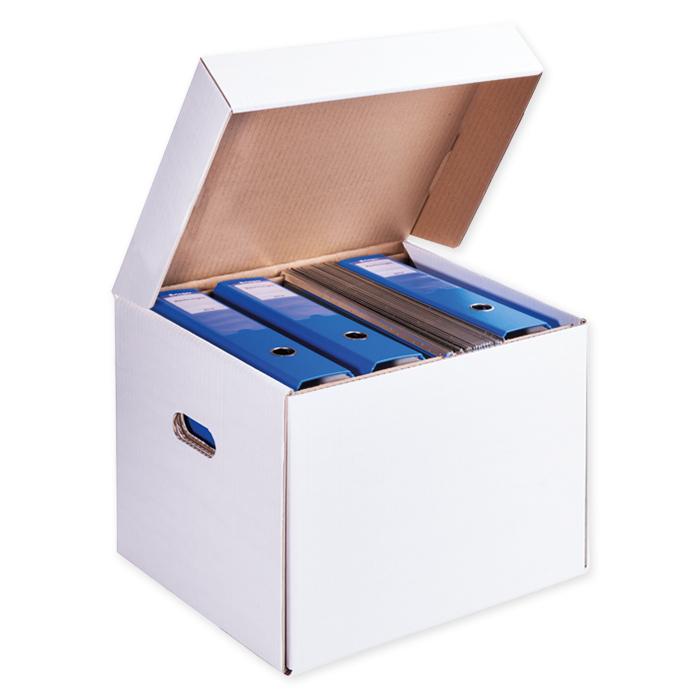 Brieger Ordnerbox für Hängeregister 385 x 330 x 295 mm, weiss