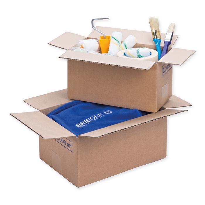 Brieger Standard boxes, single corrugation