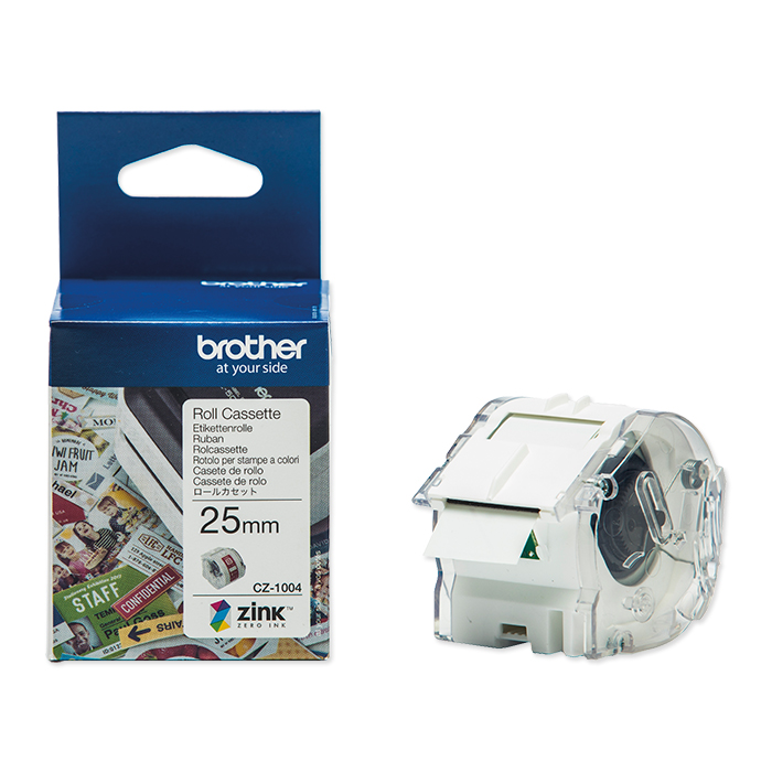 Brother Etiketten zu Labelprinter VC-500W Colour Paper Tape CZ-1004, 25 mm x 5 m