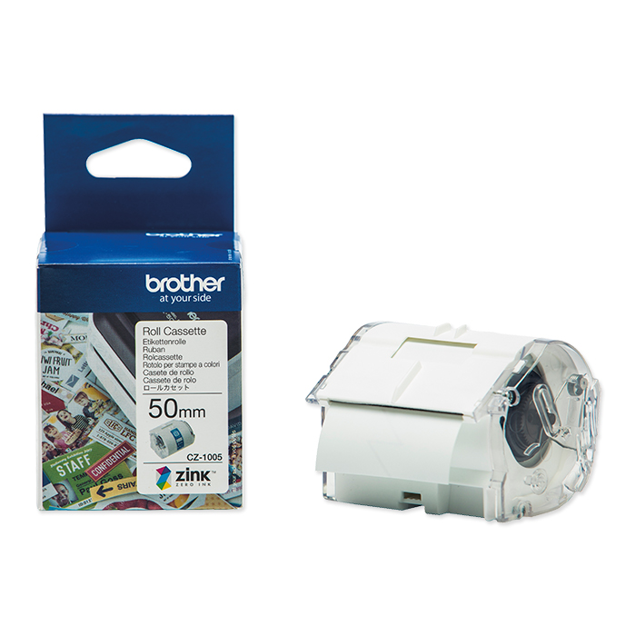 Brother Etiketten zu Labelprinter VC-500W Colour Paper Tape CZ-1005, 50 mm x 5 m
