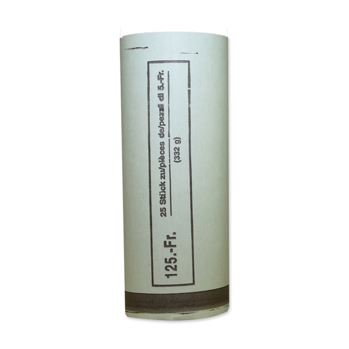 CHF coin tube