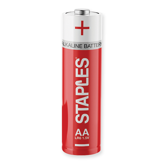 Staples Alkaline Batteries AA LR6 1.5 Volt, 24 pieces