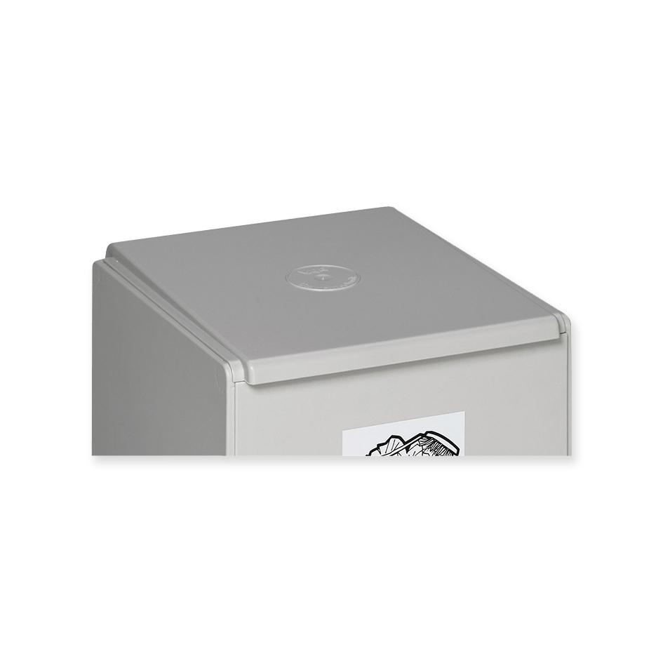 Coperchio per cassetta di raccolta riciclabile grigio chiaro