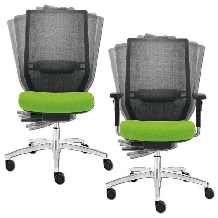 Dauphin Shape mesh swivel chair premium