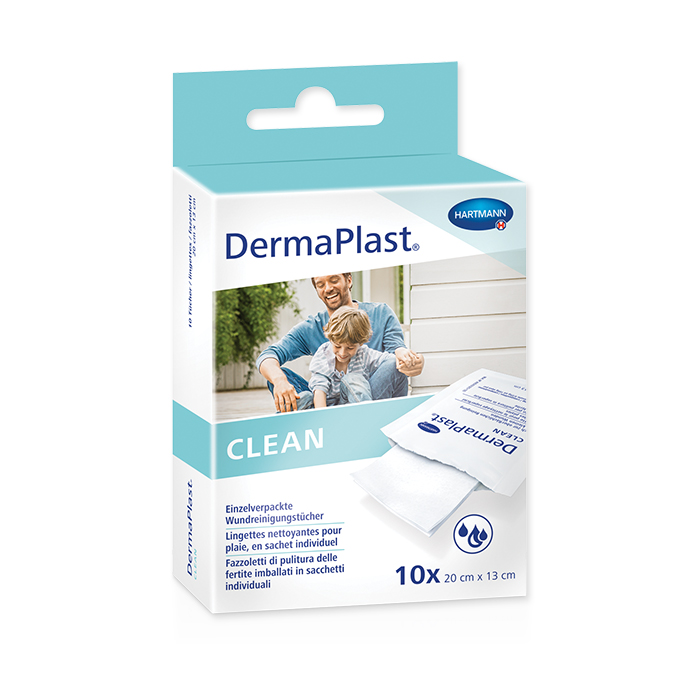 Derma Plast Clean Wound Cleaning Wipes