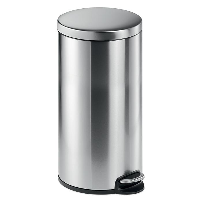 Druable pedal-push waste bin