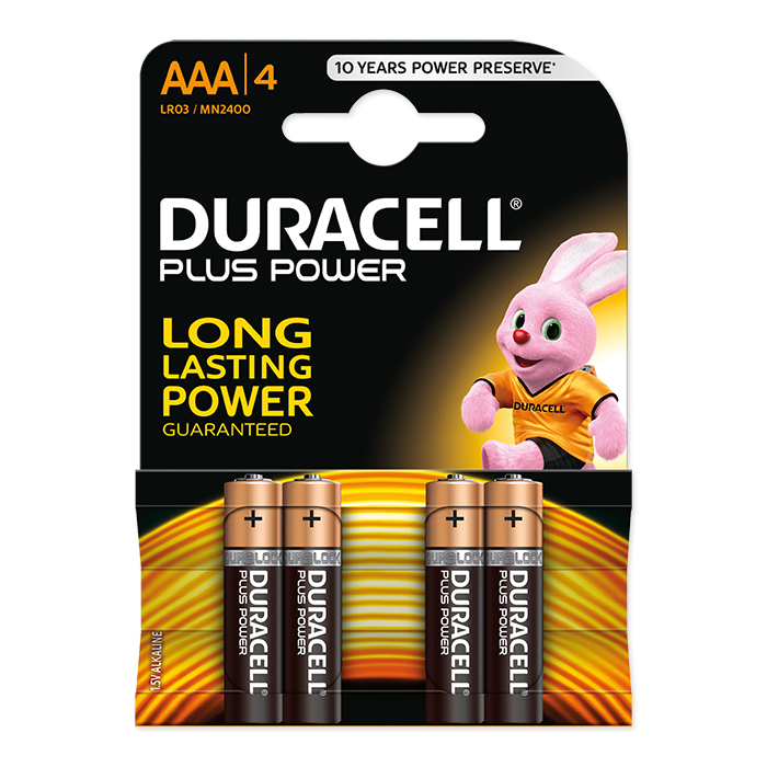 Duracell Batterie Plus, Micro, LR03, AAA