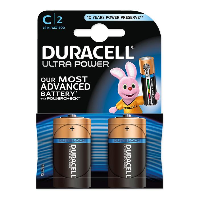 Duracell Batterie Ultra Power, Baby, LR14, C