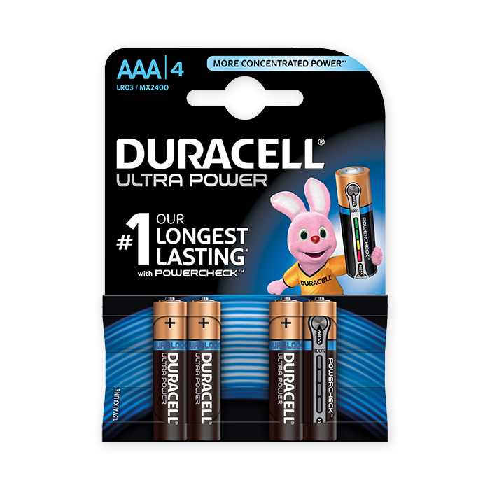 Duracell Batterie Ultra Power, LR03
