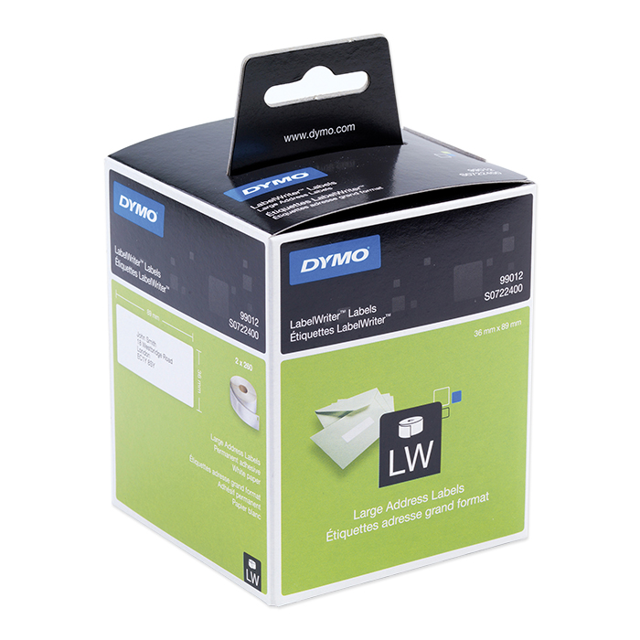 Dymo Labels for label printers Address, 89 x 36 mm, white, permanent