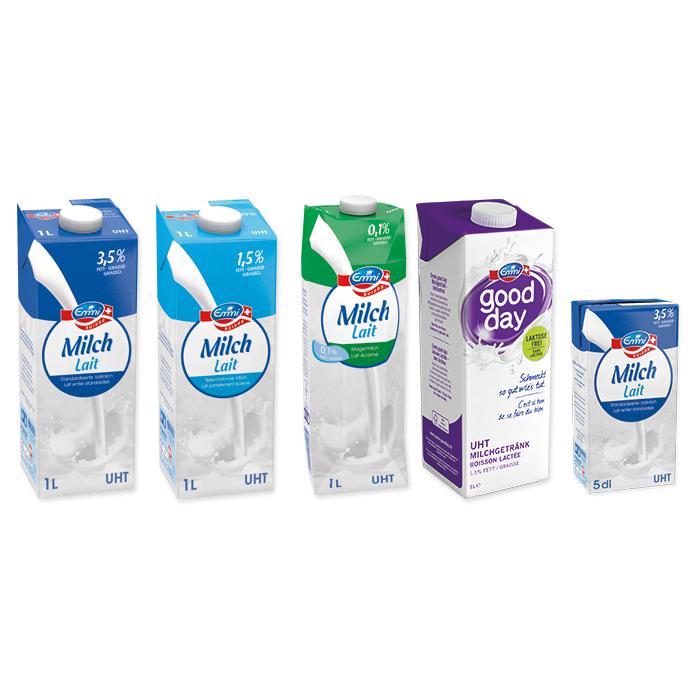 Emmi lait UHT, Tetra Pack