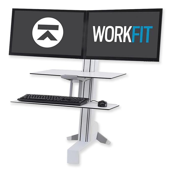 Ergotron WorkFit-S Stand-Seat Workstation
