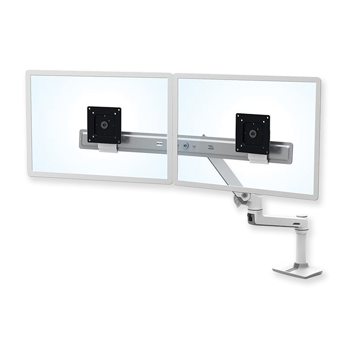 Ergotron LX Dual Direct Monitor Arm weiss