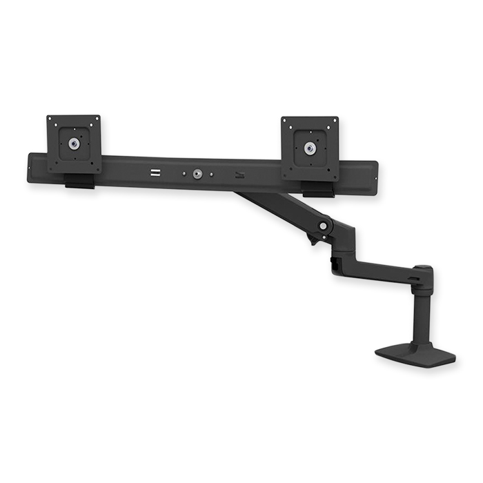 Ergotron LX Dual Direct Monitor Arm black