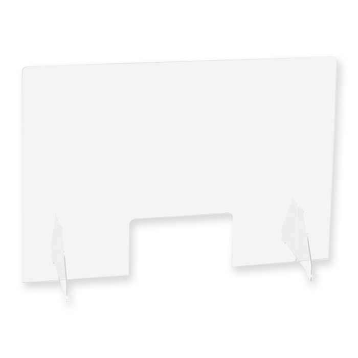 Exacompta Exascreen Schutzscheibe Stand-alone-Modell mit Winkelträger